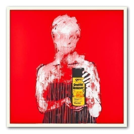 Graffiti Remover kunstverk av dolk i rød