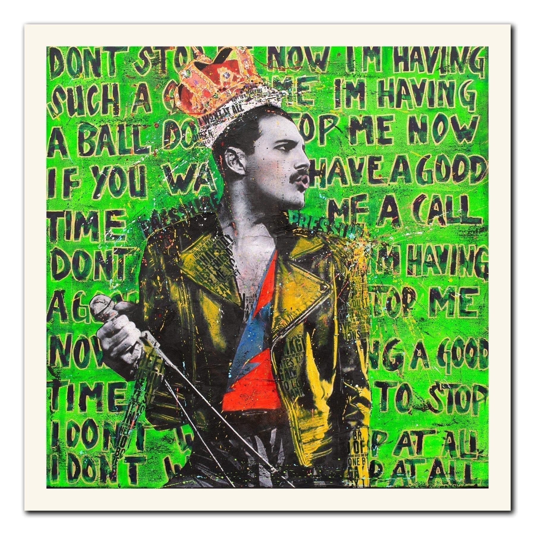 Kunst av Fru Bugge med Freddie Mercury
